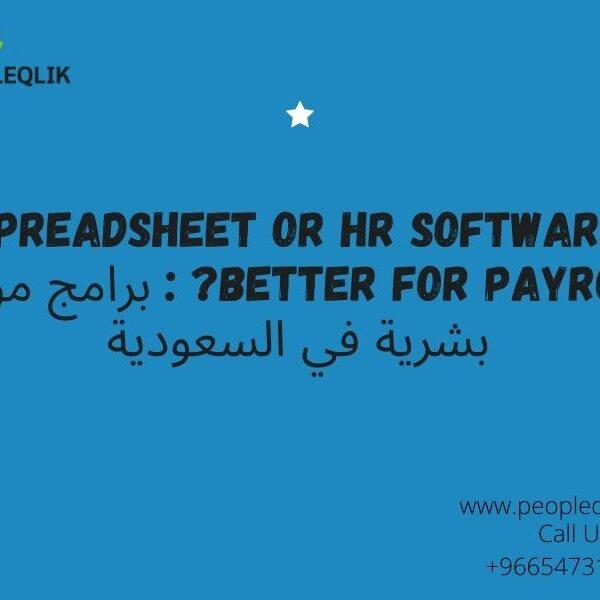 Spreadsheet Or HR Software Better For Payroll? : برامج موارد بشرية في السعودية