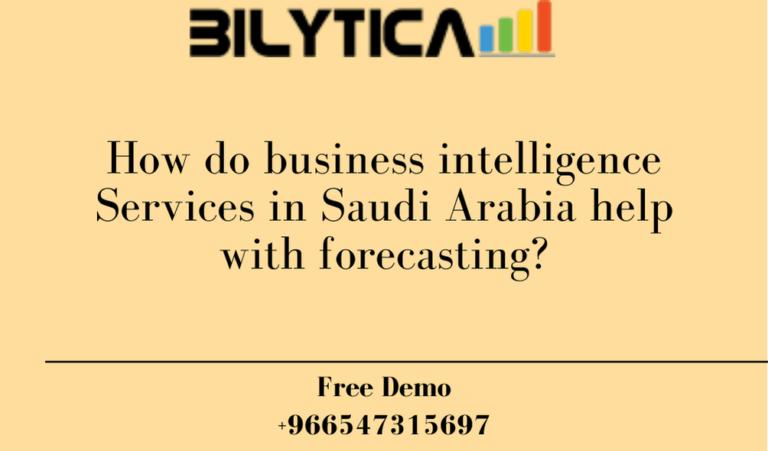 كيف تساعد خدمات ذكاء الأعمال في المملكة العربية السعودية في التنبؤ؟